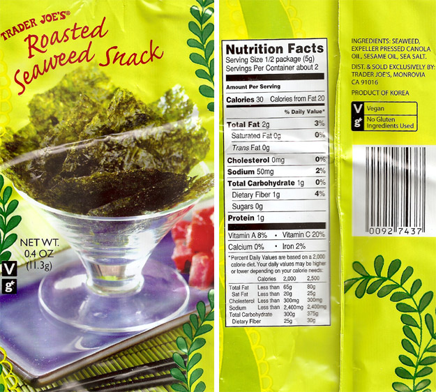 Dr Grub Images » Roasted Seaweed Snack